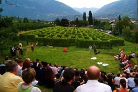 Labyrinthgarten im Weingut Kränzel in Tscherms bei Meran