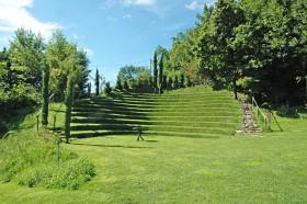 Gartenlandschaft im Weingut Kränzel