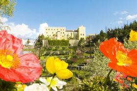 Blühende Gärten von Schloss Trauttmansdorff in Meran